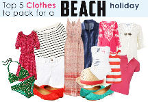 Top 5 clothes your suitcase should have if you are going to a beach destination