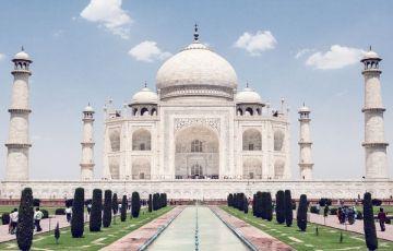 Taj Mahal With Himalayas