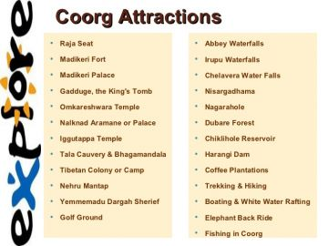 mysore and coorg relaxition package