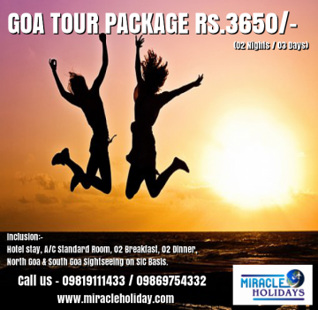 Goa Tour Package for 03 Days