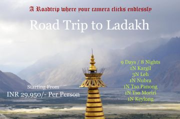 Ladakh 3 Night Package including Leh, Nubra and Pangong.