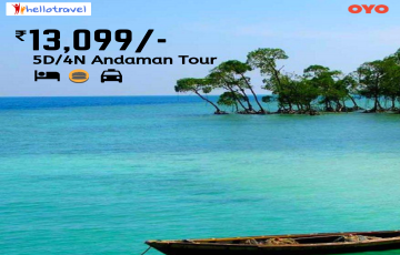 Cruise in the Andaman  Land Package only - 4N/5D starting @INR 13099