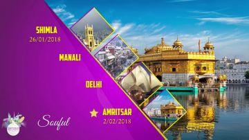 8 Days Delhi Shimla Manali Amritsar Best Tour Package