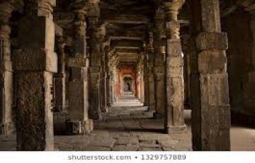 pillared hallway  Temple Tour