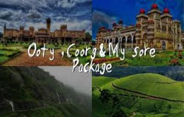 Mysore, Coorg, Ooty, Coonoor Tour Package 04 Night / 05 Days
