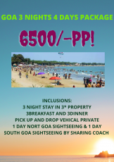 GOA 3 NIGHTS 4 DAYS PACKAGE