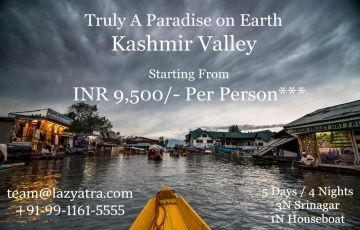 Kashmir Valley - 4N Stay within 9500