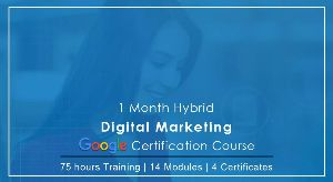 1- Month Digital Marketing Google Certification Course