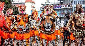 Onam Pulikali Tiger Dance