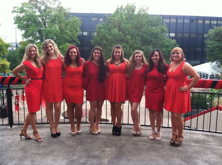 fc962285a0d Alpha Phi Red Dress Gala 2019 in Oakmont Country Club