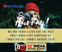 HelloTravel.com Nominated for the Best Email Marketing Campaign at 12th India Digital Summit Awards 2018