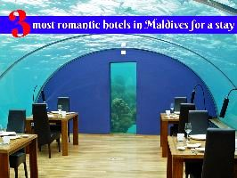 3 most romantic hotels in Maldives for a stay