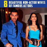 8 Beautiful Non-actor Wives of Famous Actors