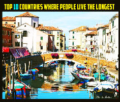 Top 10 Countries Where People Live The Longest