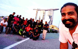 Great independence Day ride from Singapore to India through five countries