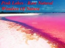 Pink Lakes - Rare Natural Wonders Of Nature