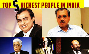 Top 5 Richest People In India