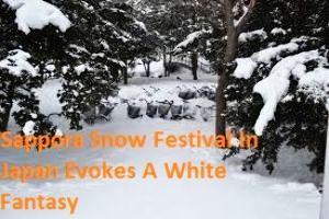 Sappora Snow Festival In Japan Evokes A White Fantasy