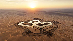 Visit Dubai's heart shaped Love Lake