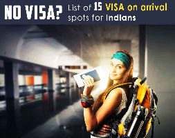 Top 15 : Visa on arrival Spots for Indians