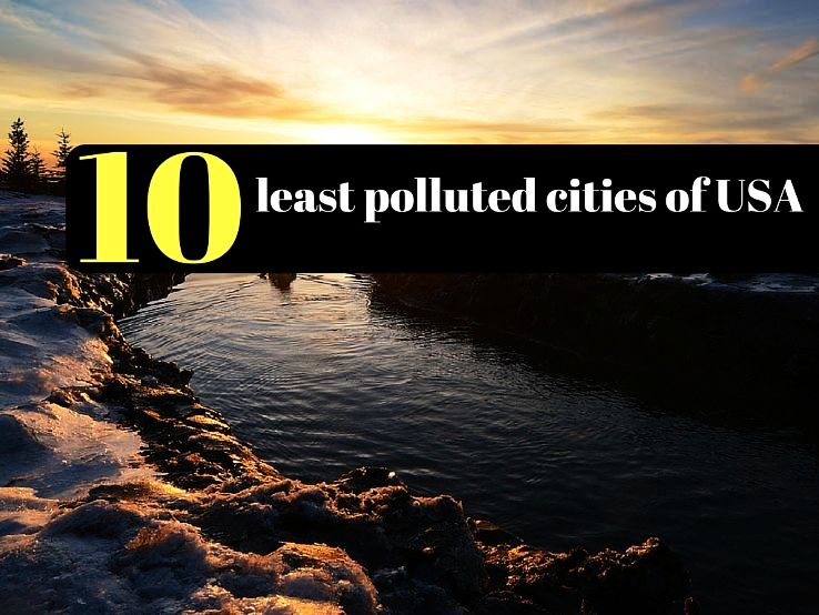 10 least polluted cities of USA