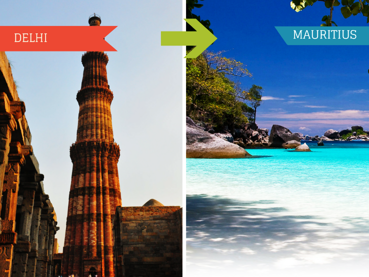 Top Travel Agent for Mauritius from Delhi