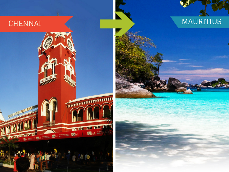 Top 3 Travel Agents for Mauritius from Chennai