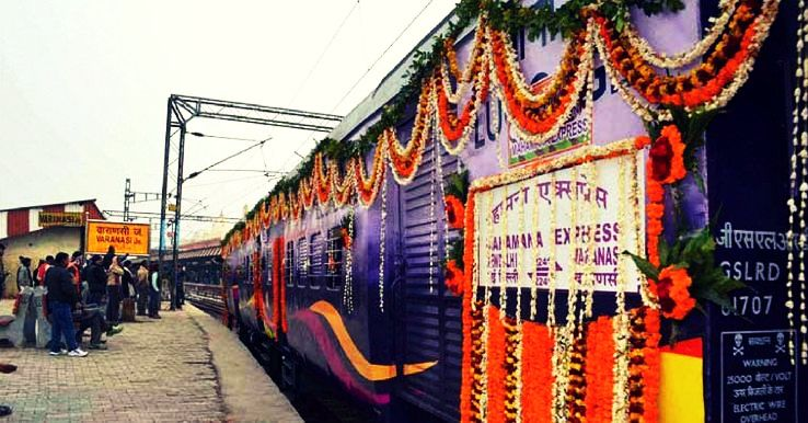 Mahamana Express - the luxurious journey from Varanasi to Vadodara