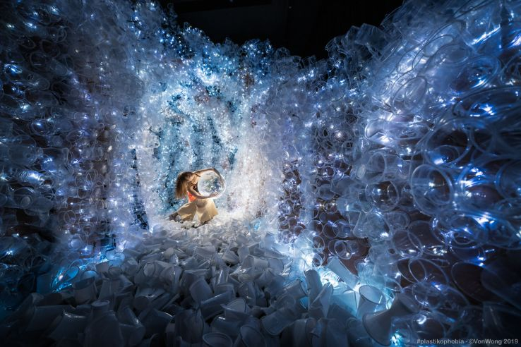 Singapore welcomes visitors to view it's cave made of plastic cups