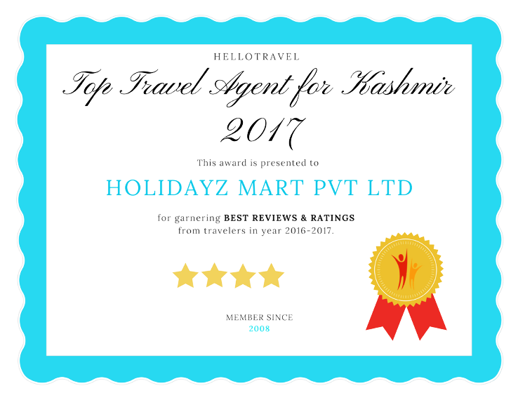 Top 15 Travel Agents for Kashmir 2017
