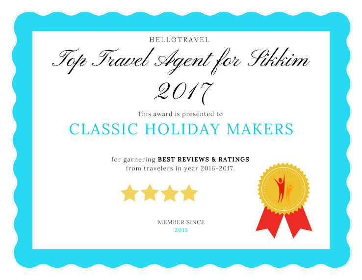 Top 3 Travel Agents for Sikkim from Kolkata