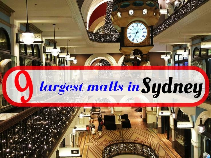 9 largest malls in Sydney