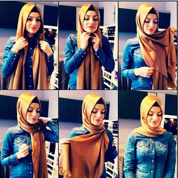 How to wear a muslim head wrap
