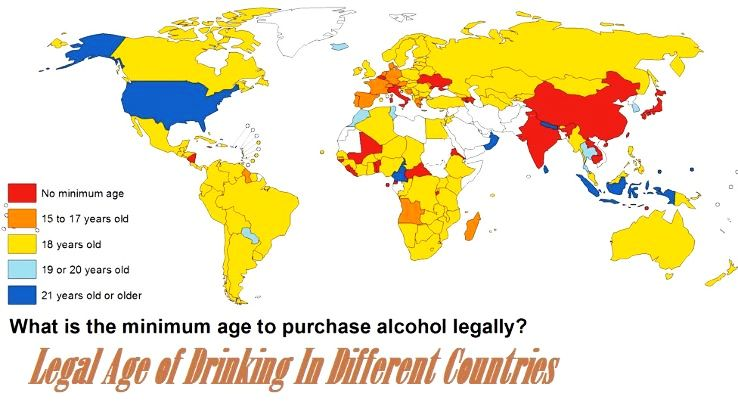 Power Frequency By Country : Legal age of drinking in different countries hello