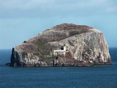 Bass Rock Island in Scotland:  No man's land
