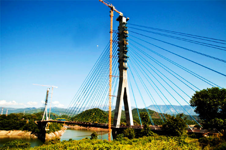 North India's First Cable Stayed Bridge Opened In Jammu And Kashmir