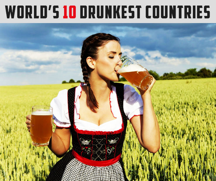 The Worlds 10 Drunkest Countries
