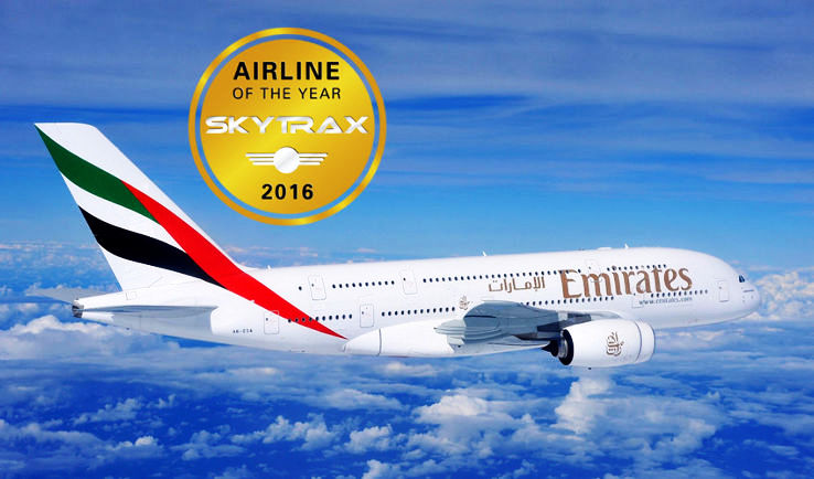 Skytrax World Airline Awards 2016 – Emirates Named as World's Best Airline