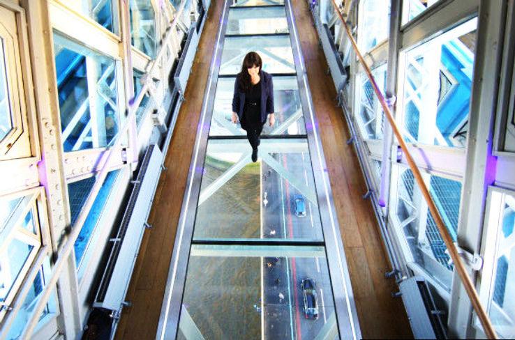Famous Londons Tower Bridge Unveils Glass Walkway 140ft Above River Thames