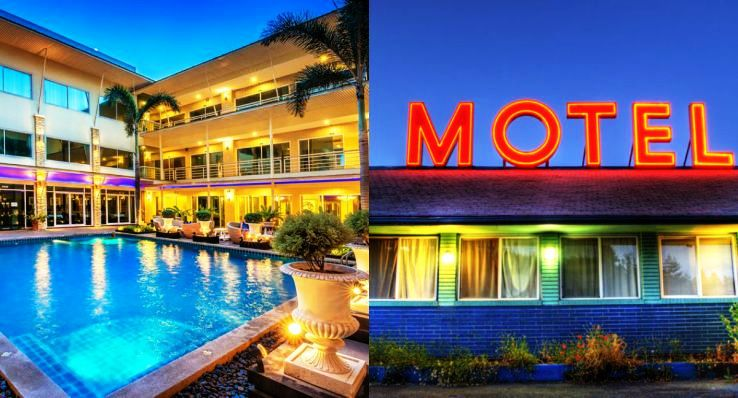 What is the difference between hotel and motel