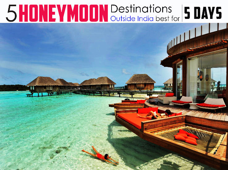 5 best honeymoon destinations outside india for 5 days for Best affordable honeymoon destinations in usa