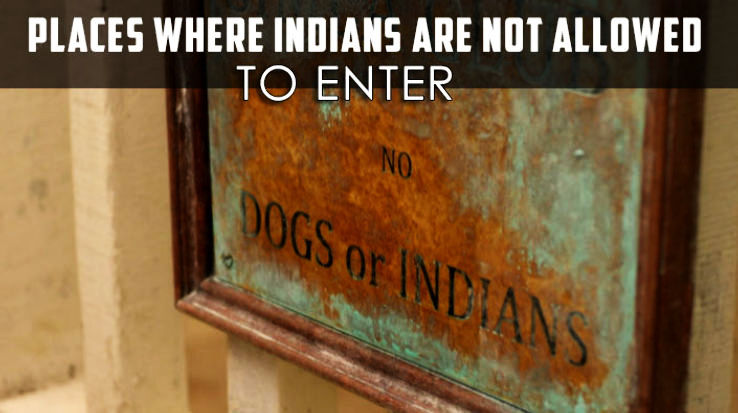 Places within India where Indians are still not allowed to enter