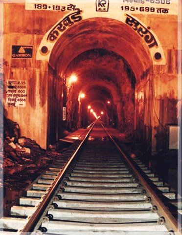 Image result for Karbude Tunnel: Karbude Tunnel is the longest rail tunnel in India