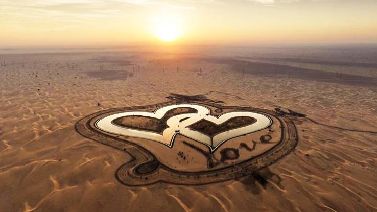 Visit Dubai's heart shaped Love Lake