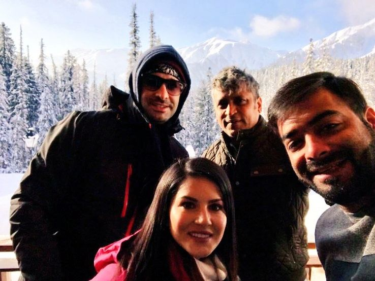 Where did Sunny leone went on her recent tour to Kashmir