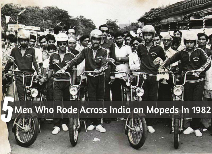 The Adventures of 5 Men Who Rode Across India on Mopeds In 1982