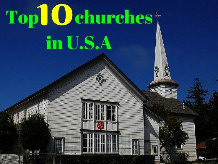 Top 10 churches in U.S.A