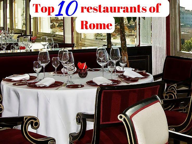 Top 10 restaurants of Rome