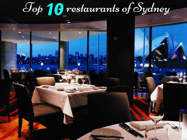 Top 10 restaurants of Sydney