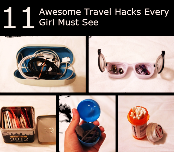 11 Awesome Travel Hacks Every Girl Must See Before Packing Another Bag